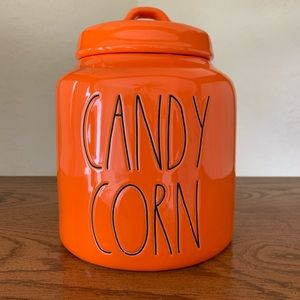 NEW! Rae Dunn Orange Candy Corn Canister